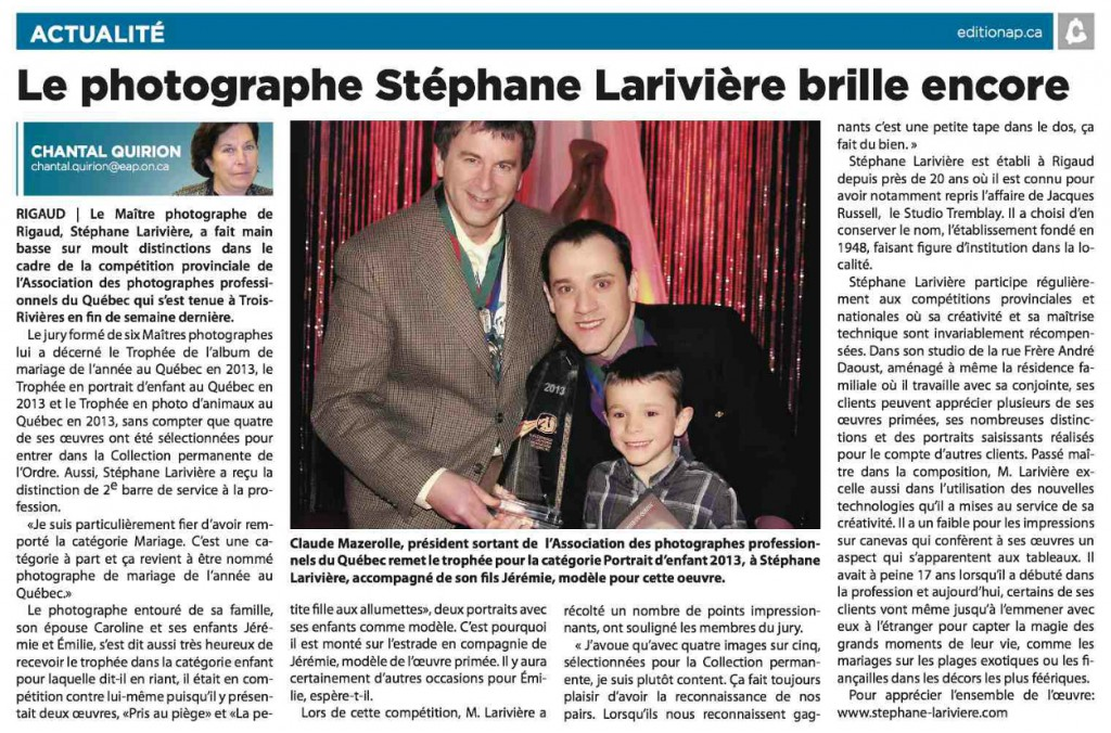 stephane-lariviere-photographe-article tribune-express 2013