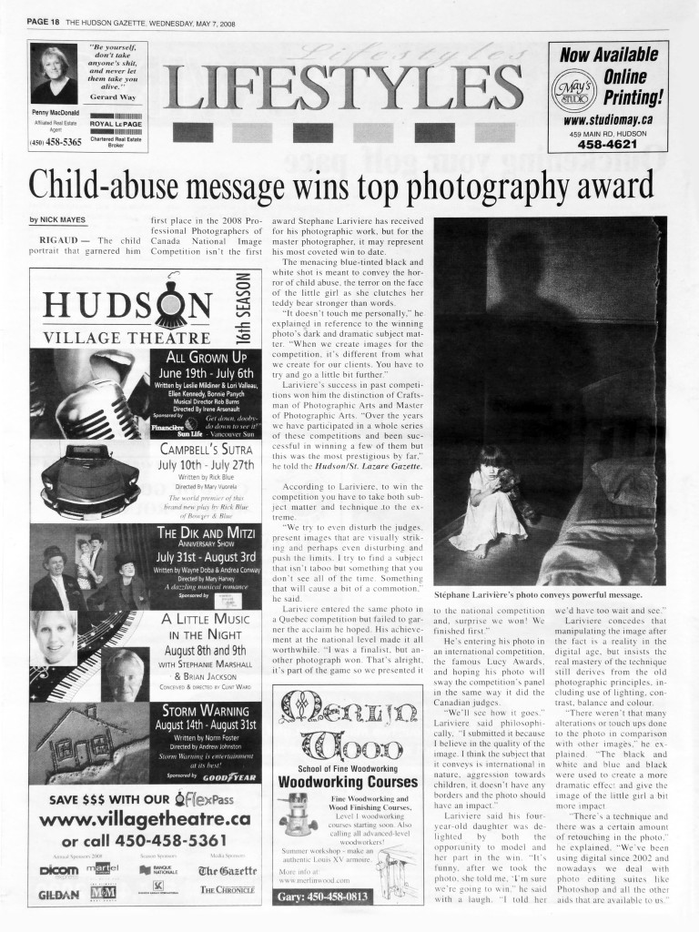 stephane-lariviere-photographe-article hudson gazette 2008 ok