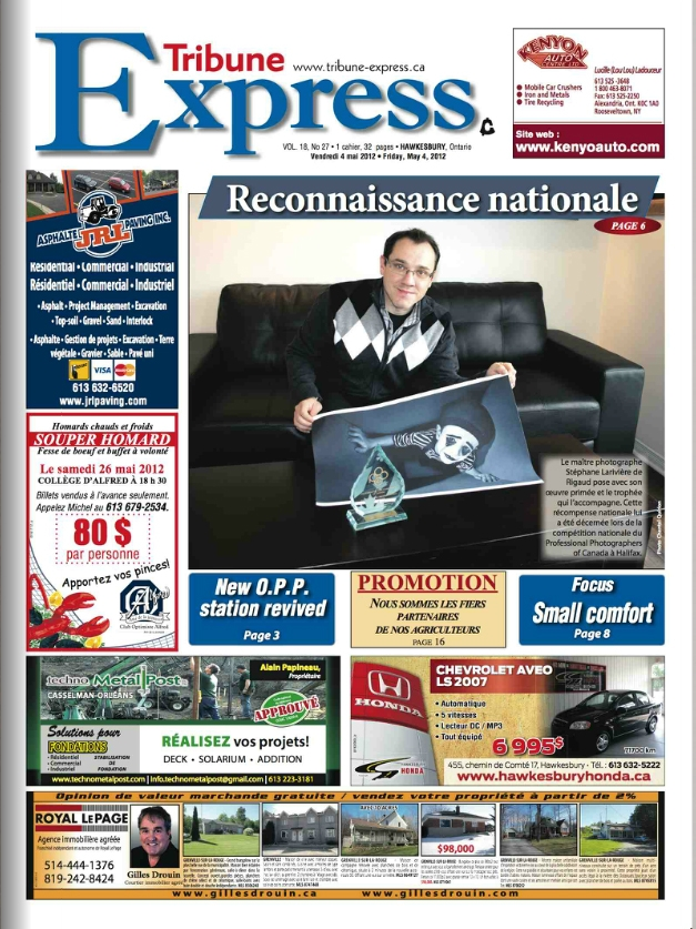 stephane-lariviere-photographe-trophee-portrait-enfant-canada-tribune-express-cover-1
