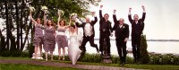 photo-mariage-groupe-cortège-chateau-vaudreuil