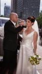 Échange des coupes des mariés